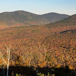 Crocker Mountain as seen from Reddington Township, Maine in fall. High Peaks Region.
