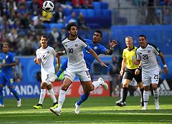 June 22, 2018 - SãO Petersburgo, Rússia - SÃO PETERSBURGO, MO - 22.06.2018: BRAZIL VS. COSTA RICA - Russia, St. Petersburg, on June 22, 2018. 2018 FIFA World Cup Russia. The match of the group stage of the FIFA World Cup - 2018 between national teams of Brazil and Costa Rica. In the picture: the player of Costa - Ricky Bryan Ruiz. (Credit Image: © Andrey Pronin/Fotoarena via ZUMA Press)