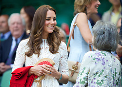 02.07.2014, All England Lawn Tennis Club, London, ENG, WTA Tour, Wimbledon, im Bild Catherine Kate Middleton (Dutchess of Cambridge) during the Ladies' Singles Quarter-Final match on day nine // during the Wimbledon Championships at the All England Lawn Tennis Club in London, Great Britain on 2014/07/02. EXPA Pictures © 2014, PhotoCredit: EXPA/ Propagandaphoto/ David Rawcliffe<br /> <br /> *****ATTENTION - OUT of ENG, GBR*****