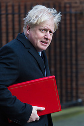 Foreign Secretary Boris Johnson arrives at 10 Downing Street in London to attend the weekly meeting of the UK cabinet - London. February 06 2018.
