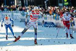 March 16, 2019 - Falun, SWEDEN - 190316  Stina Nilsson of Sweden in the Women's cross-country skiing sprint quarter final during the FIS Cross-Country World Cup on march 16, 2019 in Falun  (Credit Image: © Daniel Eriksson/Bildbyran via ZUMA Press)