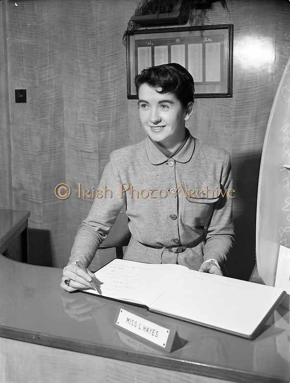 26/9/1952<br /> 9/26/1952<br /> 26 September 1952<br /> <br /> Photos of employees at The National Cash Register Office