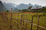 Vang Vieng, Laos. Farmhouse near the river.