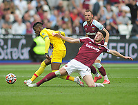 Football - 2021 / 2022 Premier League - West Ham United vs Crystal Palace - London Stadium - Saturday 28th August 2021<br /> <br /> Wilfried Zara of Crystal Palace and Declan Rice of West Ham<br /> <br /> Credit : COLORSPORT/Andrew Cowie