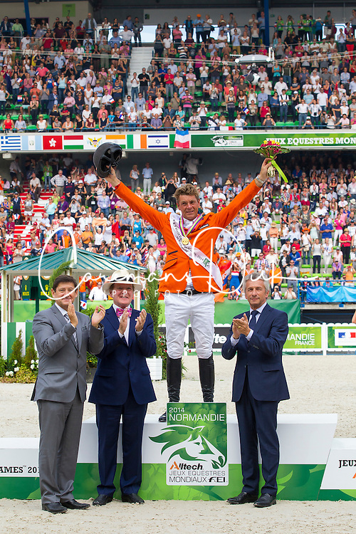 Jeroen Dubbeldam and Zenith SFN World Champion Jumping - Show Jumping Final Four - Alltech FEI World Equestrian Games™ 2014 - Normandy, France.<br />