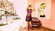 Fashion Editorial House of Shu Shu. <br /> Model Ashley Graves.<br /> Photographed at the Stanbridge Estate in Palm Springs California.<br /> Stylist Jennifer O'Bannon<br /> Makeup Whitney Gregory<br /> Hair Lucy Gedjeyan<br /> Copyright Amyn Nasser. All Rights Reserved.