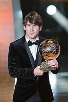 FIFA Ballon D'OR Lionel Messi (Valeriano Di Domenico/EQ Images)