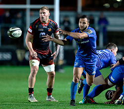 Jamison Gibson-Park of Leinster<br /> <br /> Photographer Simon King/Replay Images<br /> <br /> Guinness PRO14 Round 10 - Dragons v Leinster - Saturday 1st December 2018 - Rodney Parade - Newport<br /> <br /> World Copyright © Replay Images . All rights reserved. info@replayimages.co.uk - http://replayimages.co.uk