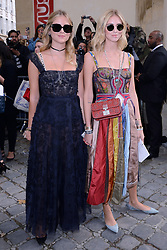 Valentina Ferragni and blogger, Chiara Ferragni arriving at the Dior Fashion Show as part of Paris Fashion Week Spring Summer 2018 held at Musee Rodin in Paris, France, on September 26, 2017. Photo by Aurore Marechal/ABACAPRESS.COM