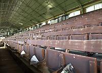 Football - 2019 / 2020 Sky Bet (EFL) Championship - Fulham vs. Leeds United<br /> <br /> The old wooden seating of the Johnny Haynes stand at Craven Cottage<br /> <br /> COLORSPORT/DANIEL BEARHAM