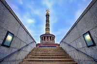 The Victory Column is a monument designed by Heinrich Strack after 1864 to commemorate the Prussian victory in the Danish-Prussian War. By the time it was inaugurated on 2 September 1873, Prussia had also defeated Austria in the Austro-Prussian War (1866) and France in the Franco-Prussian War (1870–71), giving the statue a new purpose. Different from the original plans, these later victories in the so-called unification wars inspired the addition of the bronze sculpture of Victoria, 8.3 metres high and weighing 35 tonnes, designed by Friedrich Drake.
