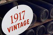 old bottles in the cellar 1917 ferreira port lodge vila nova de gaia porto portugal