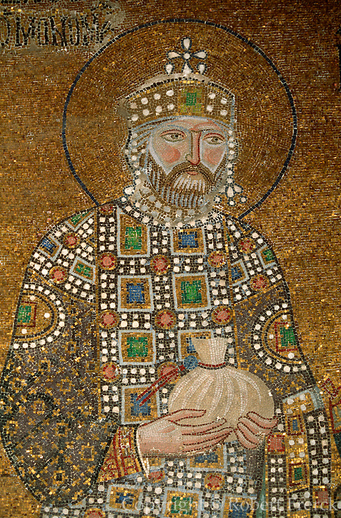 TURKEY, ISTANBUL, BYZANTINE Aya Sofya; Emperor Constantine IX
