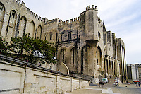 The Palais des Papes is a historical palace in Avignon, southern France.