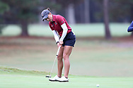 CHAPEL HILL, NC - OCTOBER 15: South Carolina's Isidora Nilsson on the 1st green. The third and final round of the Ruth's Chris Tar Heel Invitational Women's Golf Tournament was held on October 15, 2017, at the UNC Finley Golf Course in Chapel Hill, NC.