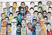 """Protestas por la desaparición forzada de 43 estudiantes de la Escuela Normal Rural """"Raúl Isidro Burgos"""" ocurrida el 26 de septiembre de 2014. <br /> Bellas Artes, Ciudad de México, 5 de noviembre de 2014. (Foto: Prometeo Lucero)"""