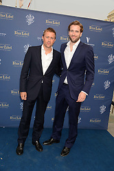 The Johnnie Walker Blue Label and David Gandy Drinks Reception aboard John Walker & Sons Voyager, St.Georges Stairs Tier, Butler's Wharf Pier, London, UK on 16th July 2013.<br /> Picture Shows:-Wilfred Frost, Miles Frost,