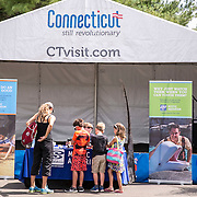 August 25, 2016, New Haven, Connecticut: <br /> Sponsor booths are shown on Day 7 of the 2016 Connecticut Open at the Yale University Tennis Center on Thursday, August  25, 2016 in New Haven, Connecticut. <br /> (Photo by Billie Weiss/Connecticut Open)