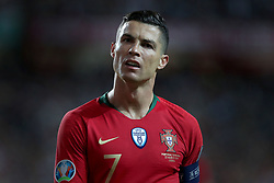 March 22, 2019 - Lisbon, Portugal - Portugal's forward Cristiano Ronaldo looks on during the UEFA EURO 2020 group B qualifying football match Portugal vs Ukraine, at the Luz Stadium in Lisbon, Portugal, on March 22, 2019. (Credit Image: © Pedro Fiuza/ZUMA Wire)