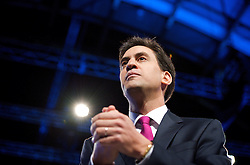 Ed Miliband during speech to the Labour Party Conference in Manchester,October 2 2012, Photo by Elliott Franks / i-Images