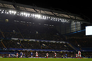 a General View of the action during the second half. Carabao Cup , semi final 1st leg match, Chelsea v Arsenal at Stamford Bridge in London on Wednesday 10th January 2018.<br /> pic by Steffan Bowen, Andrew Orchard sports photography.