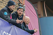 Greater London. United Kingdom, Oxford Coaches Blue Boat and Isis. University Boat Races , Cambridge University vs Oxford University. Putney to Mortlake,  Championship Course, River Thames, London. <br /> <br /> Saturday  24/03/2018<br /> <br /> [Mandatory Credit  Intersport Images]