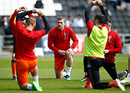 Paul Coutts of Sheffield Utd warms up during the English League One match at  Stadium MK, Milton Keynes. Picture date: April 22nd 2017. Pic credit should read: Simon Bellis/Sportimage