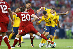 August 2, 2017 - Munich, Germany - Angel Correa of Atletico Madrid and Adam Lallana of Liverpool during the Audi Cup 2017 match between Liverpool FC and Atletico Madrid at Allianz Arena on August 2, 2017 in Munich, Germany. (Credit Image: © Matteo Ciambelli/NurPhoto via ZUMA Press)