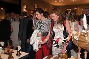 Lara Bohinc and Erin Morris at the Opening of The LAPADA  Art and Antiques Fair. Berkeley Sq. London. 24 September 2013.