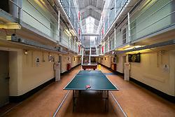 Interior of hall at Peterhead Prison Museum in Peterhead, Aberdeenshire, Scotland, UK