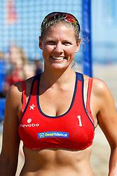 20150828 NED: NK Beachvolleybal 2015, Scheveningen<br />Kwalificaties NK Beachvolleybal 2015, Hiske van Duinen, debutant