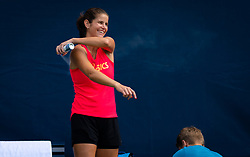 August 22, 2019, New York, NEW YORK, USA: Julia Goerges of Germany during practice at the 2019 US Open Grand Slam tennis tournament (Credit Image: © AFP7 via ZUMA Wire)