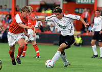 Harry Kewell (Liverpool) Ben Rix (Crewe) Crewe v Liverpool. Pre season friendly match. 19/7/2003. Credit : Colorsport/Andrew Cowie.