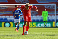 Nottingham Forest's Lyle Taylor (33) in action during the EFL Sky Bet Championship match between Cardiff City and Nottingham Forest at the Cardiff City Stadium, Cardiff, Wales on 2 April 2021.