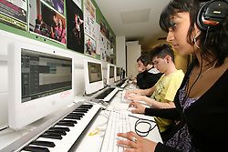 Students on Music Practice course at Barnet College North London