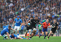 November 24, 2018 - Rome, Italy - Italy v New Zealand All Blacks - Rugby Cattolica Test Match.New Zealands Patrick Tuipulotu in action at Olimpico Stadium in Rome, Italy on November 24, 2018. (Credit Image: © Matteo Ciambelli/NurPhoto via ZUMA Press)