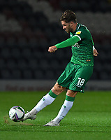 Sheffield Wednesday's Josh Windass, scorer of his team's second goal<br /> <br /> Photographer Dave Howarth/CameraSport<br /> <br /> Carabao Cup Second Round Northern Section - Rochdale v Sheffield Wednesday - Tuesday 15th September 2020 - Spotland Stadium - Rochdale<br />  <br /> World Copyright © 2020 CameraSport. All rights reserved. 43 Linden Ave. Countesthorpe. Leicester. England. LE8 5PG - Tel: +44 (0) 116 277 4147 - admin@camerasport.com - www.camerasport.com