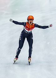 13-01-2019 NED: ISU European Short Track Championships 2019 day 3, Dordrecht<br /> 3000 m relay Gold for European Champion Suzanne Schulting #24 NED