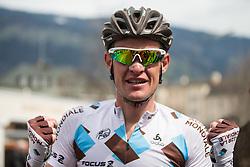 16.04.2013, Hauptplatz, Lienz, AUT, Giro del Trentino, Etappe 1, Lienz nach Lienz, im Bild Maxime Bouet (Ag2R La Mondiale, 1. Platz)  // during stage 1, Lienz to Lienz of the Giro del Trentino at the Hauptplatz, Lienz, Austria on 2013/04/16. EXPA Pictures © 2013, PhotoCredit: EXPA/ Johann Groder