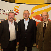 08.12.2016                   <br /> Pictured at the launch of the Shannon Airport Christmas Racing Festival at Hunt Museum were, Eric McNamara, Mark McMahon and Paddy O'Callaghan. Picture: Alan Place