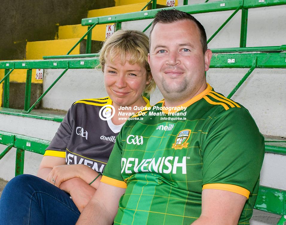 Louise and John Gavin, Navan at  the Meath v Kerry,  Joe McDonagh Cup match at Pairc Tailteann, Navan.<br /> <br /> Photo: GERRY SHANAHAN-WWW.QUIRKE.IE<br /> <br /> 10-07-2021