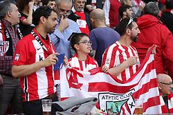 March 16, 2019 - Bilbao, Vizcaya, Spain - Supporters of Athletic de Bilbao in action during La Liga Spanish championship, , football match between Athletic de Bilbao and Atletico de Madrid, March 16th, in Nuevo San Mames Stadium in Bilbao, Spain. (Credit Image: © AFP7 via ZUMA Wire)
