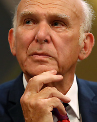 """Embargoed to 0001 Monday December 10 File photo dated 16/09/18 of Lib Dem leader Sir Vince Cable who has cast doubt on Brexit becoming a reality, insisting it was """"more likely that it won't happen"""", as the Prime Minister risked losing a crunch vote in Parliament over her deal."""