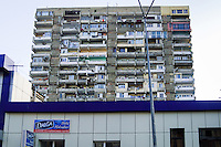 Azerbaijan, Baku. Residential building block. Low standard accommodation.