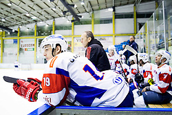 GREGOR KOBLAR of Slovenia during Friendly Ice-hockey match between National teams of Slovenia and Kazakhstan on April 9, 2013 in Ice Arena Tabor, Maribor, Slovenia. Kazakhstan defeated Slovenia 2-1. (Photo By Vid Ponikvar / Sportida)