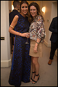 VALERIA NAPOLEONE; CLARE WAIGHT KELLER, Frieze dinner  hosted at by Valeria Napoleone for  Marvin Gaye Chetwynd, Anne Collier and Studio Voltaire 20th anniversary autumn programme. Kensington. London. 14 October 2014.