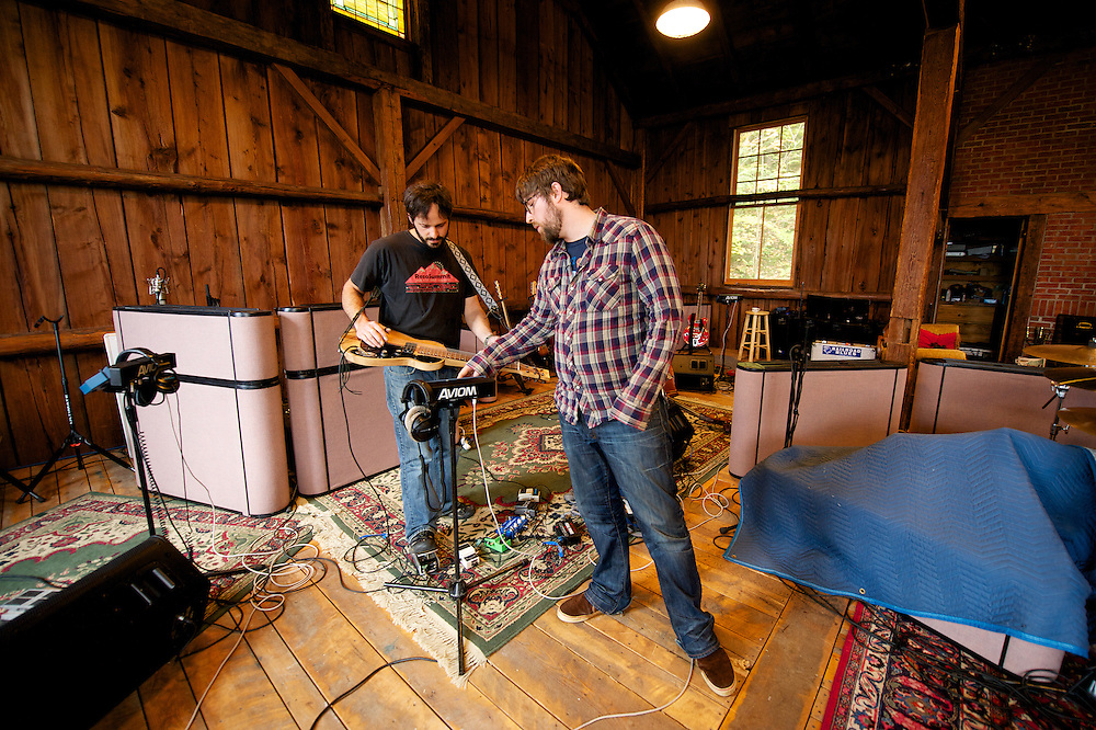Waylon Speed recording an album at the Barn in Vermont October 15-24, 2011.