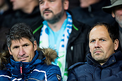 Simon Seslar and Ante Simundza ahead to the football match between National teams of Slovenia and England in Round #3 of FIFA World Cup Russia 2018 Qualifier Group F, on October 11, 2016 in SRC Stozice, Ljubljana, Slovenia. Photo by Vid Ponikvar / Sportida
