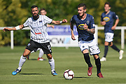 Auckland City Fabrizio Tavano makes a break in the Handa Premiership football match, Hawke's Bay v Auckland, Bluewater Stadium, Napier, Sunday, January 20, 2019. Copyright photo: Kerry Marshall / www.photosport.nz
