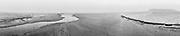Nederland, Noord-Holland, Camperduin, 21-12-2017; Laguna en strand bij laag water en in de mist.<br /> Laguna and beach at low tide and in the fog.<br /> <br /> Gigapanorama (digital montage).<br /> copyright © 2019 foto/photo Siebe Swart